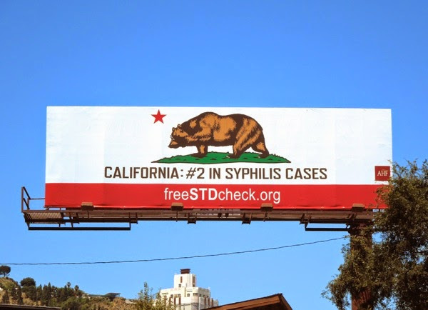 California #2 in syphilis cases STD billboard