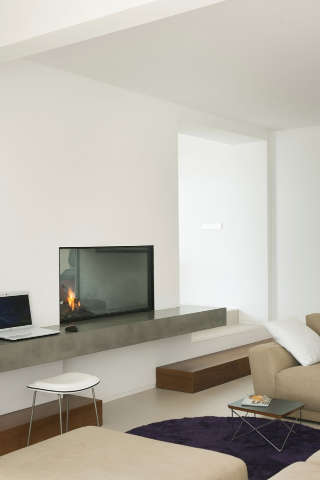 Modern fireplace in the living room