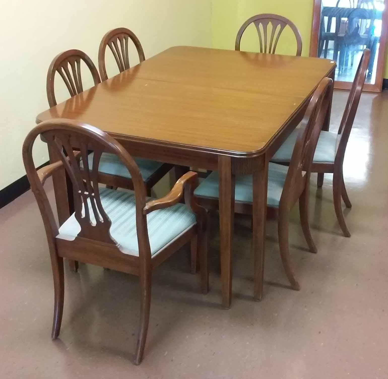 UHURU FURNITURE COLLECTIBLES SOLD Mahogany Formal Dining Set Table 6