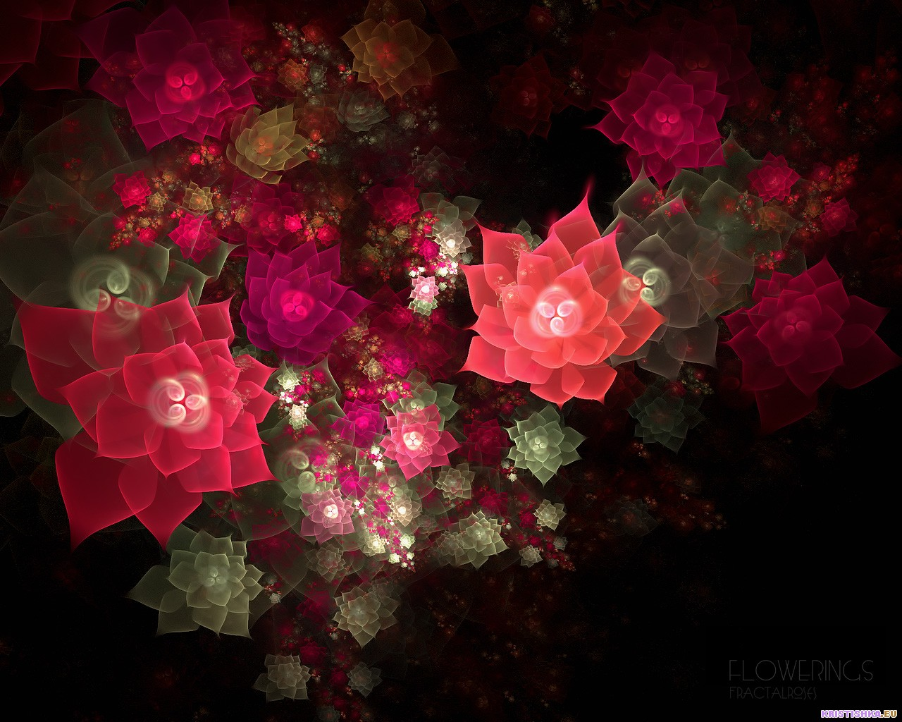 top fractal wallpapers floral - photo #26