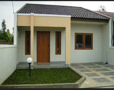 gaya teras minimalis modern type 36