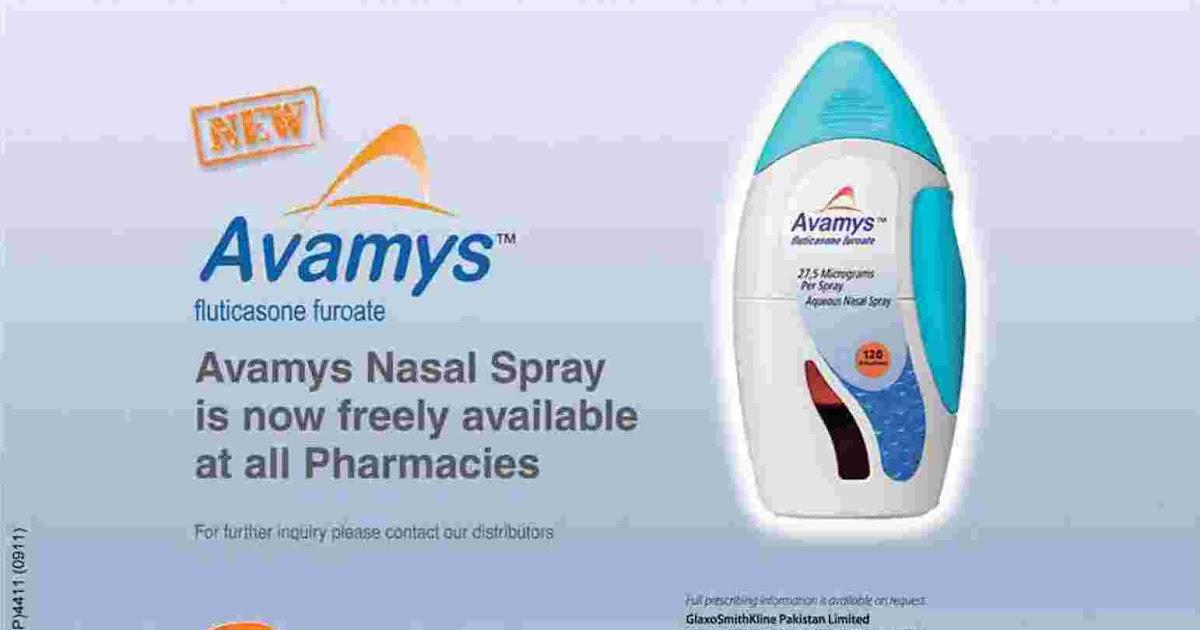 Avamys fluticasone furoate nasal spray - Review Stream