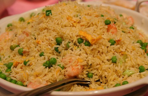 Shrimp Fried Rice With Tofu And Peas
