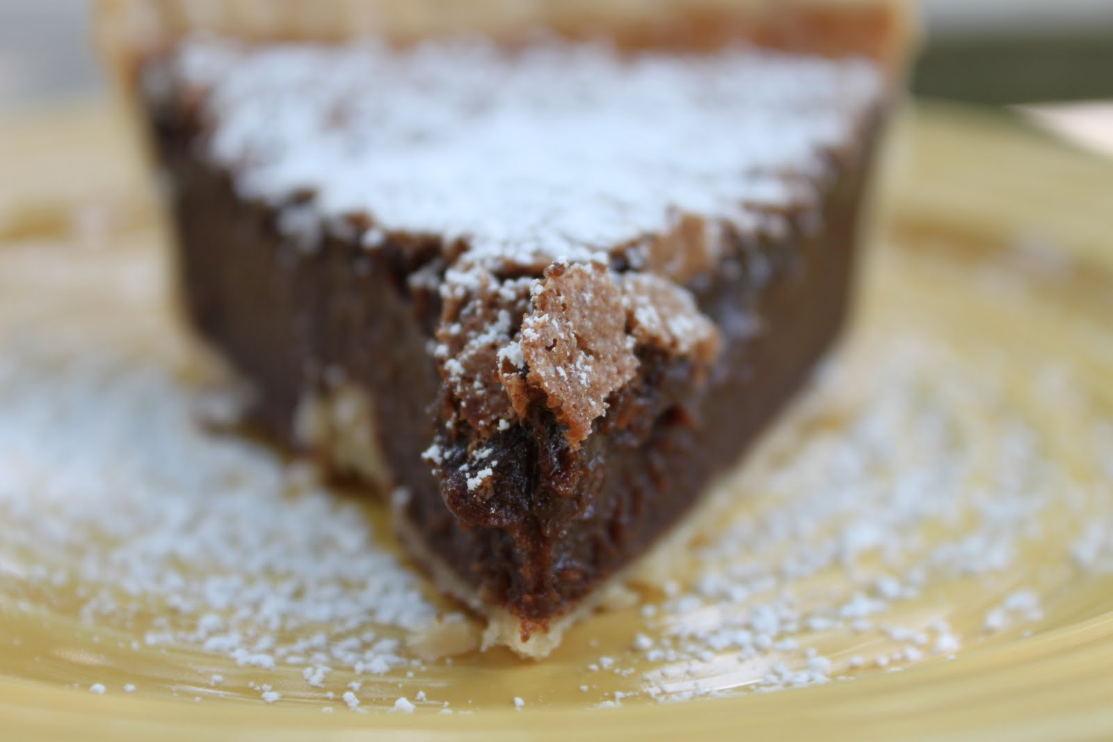 Well-Seasoned Life: Chocolate Chess Pie