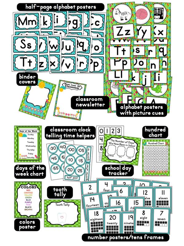 Kindergarten Classroom Decoration Printables : Clutter free classroom garden themed classrooms