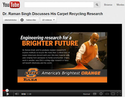 Carpet Recycling Research, Dr. Raman Singh, OSU