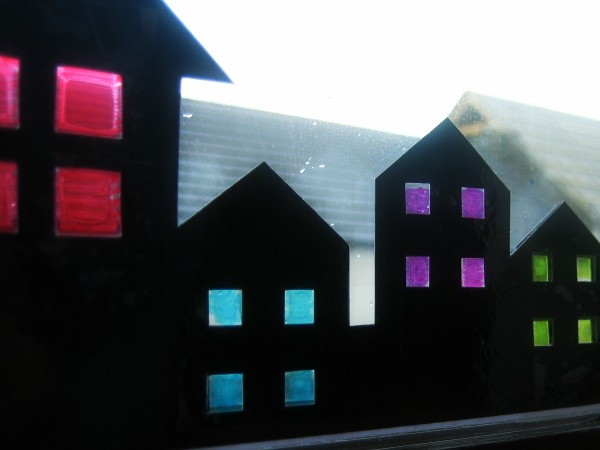 Paper Houses with Stained Glass - Our Handmade Home