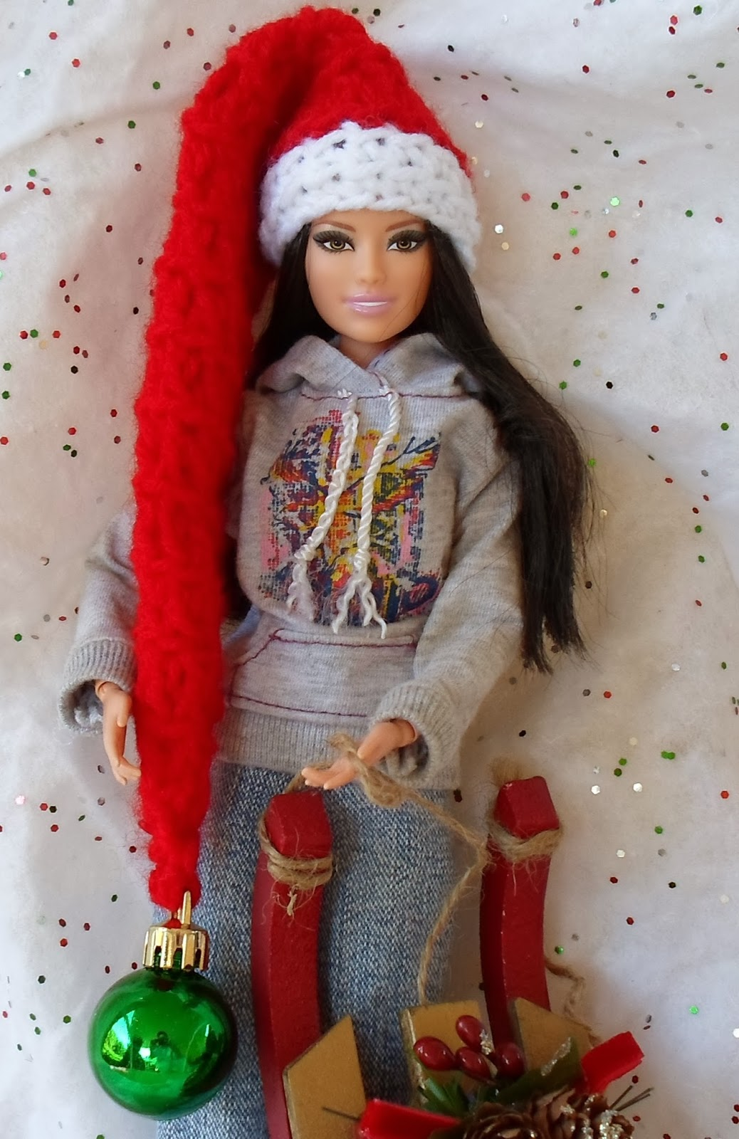Happier Than A Pig In Mud: Extra Long Barbie Santa, Elf or Ski Hat ...