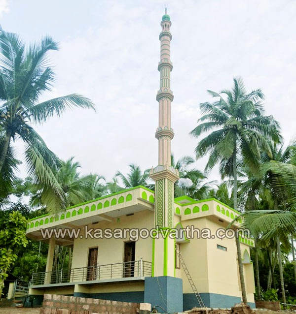Chengala, inauguration, Masjid, Cherkala, Cherkalam Abdulla, K.Aalikutty-Musliyar, Conference, kasaragod, Kerala, Refurbished mosque inauguration on Friday
