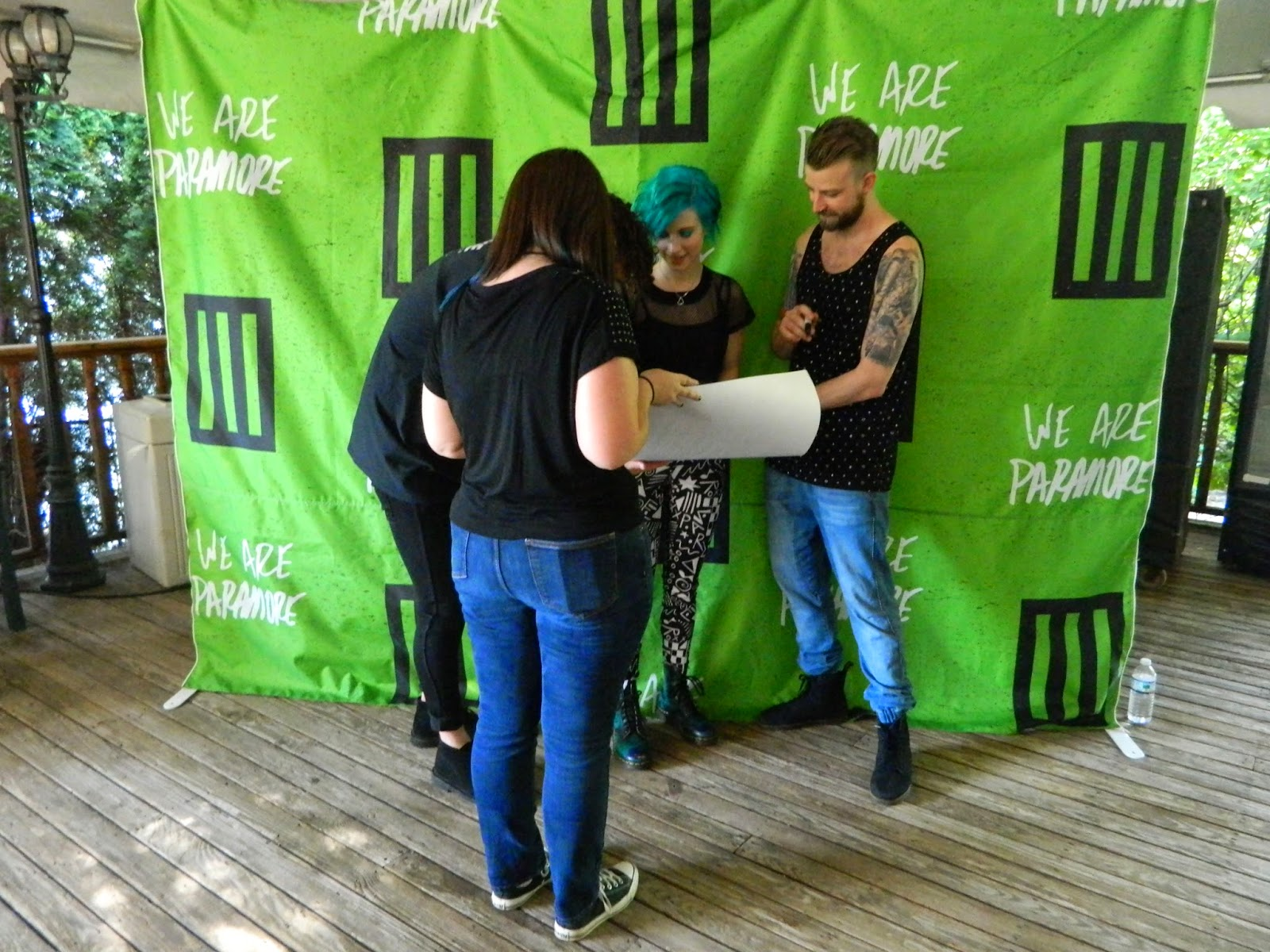 paramore meet and greet monumentour poster