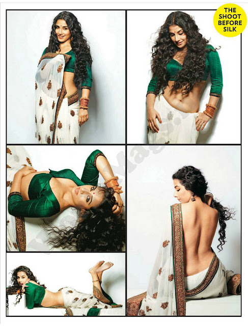 Sexy photo shoot for FHM magazine by vidya balan