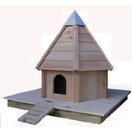 Floating duck house for Build your own duck house
