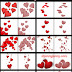Free Heart Clusters Photoshop Brushes for Valentine's Day Plus Png Cutouts