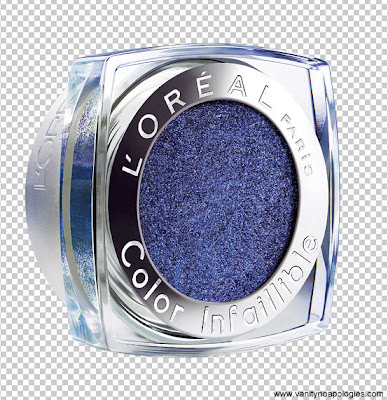 L'Oreal infallible midnight blue eye shadow