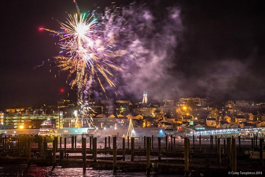 Portland, Maine USA Parade of Lights fireworks display December 13, 2014 photo by Corey Templeton
