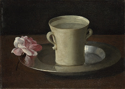 Francisco de Zurbaran - A Cup of Water and a Rose