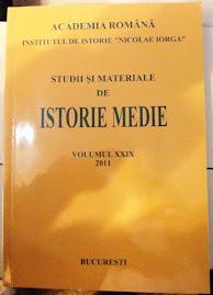 """Coperta 1 a revistei """"Studii şi Materiale de Istorie Medie"""", tomul XXIX, 2011"""