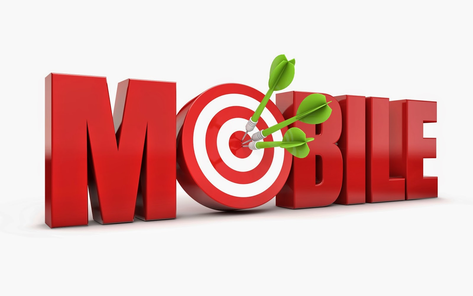 "The word ""mobile"" with a bull's-eye for the O"