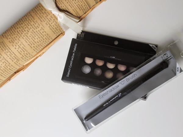 ELF Baked Eyeshadow Palette California & Eyeshadow ''C'' Brush.