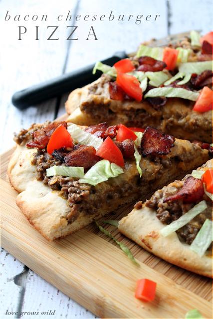 Bacon Cheeseburger Pizza - a delicious new way to enjoy your favorite burger! #velveetarecipes
