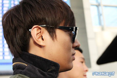 A close up photo of Lee Min Ho in Manila (with emphasis on the nose side view)