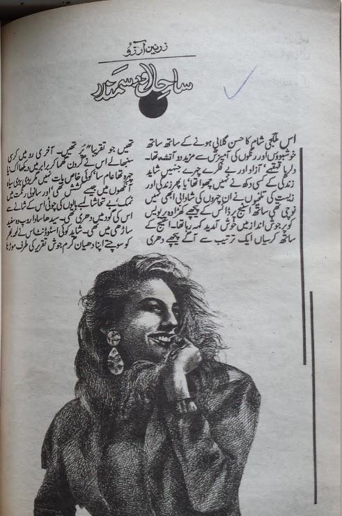 Sahil aur samandar novel by Zarnain Arzoo Online Reading