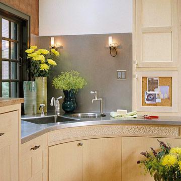 Corner Kitchen Sink Ideas : New Home Interior Design: Corner Kitchen Sink Ideas