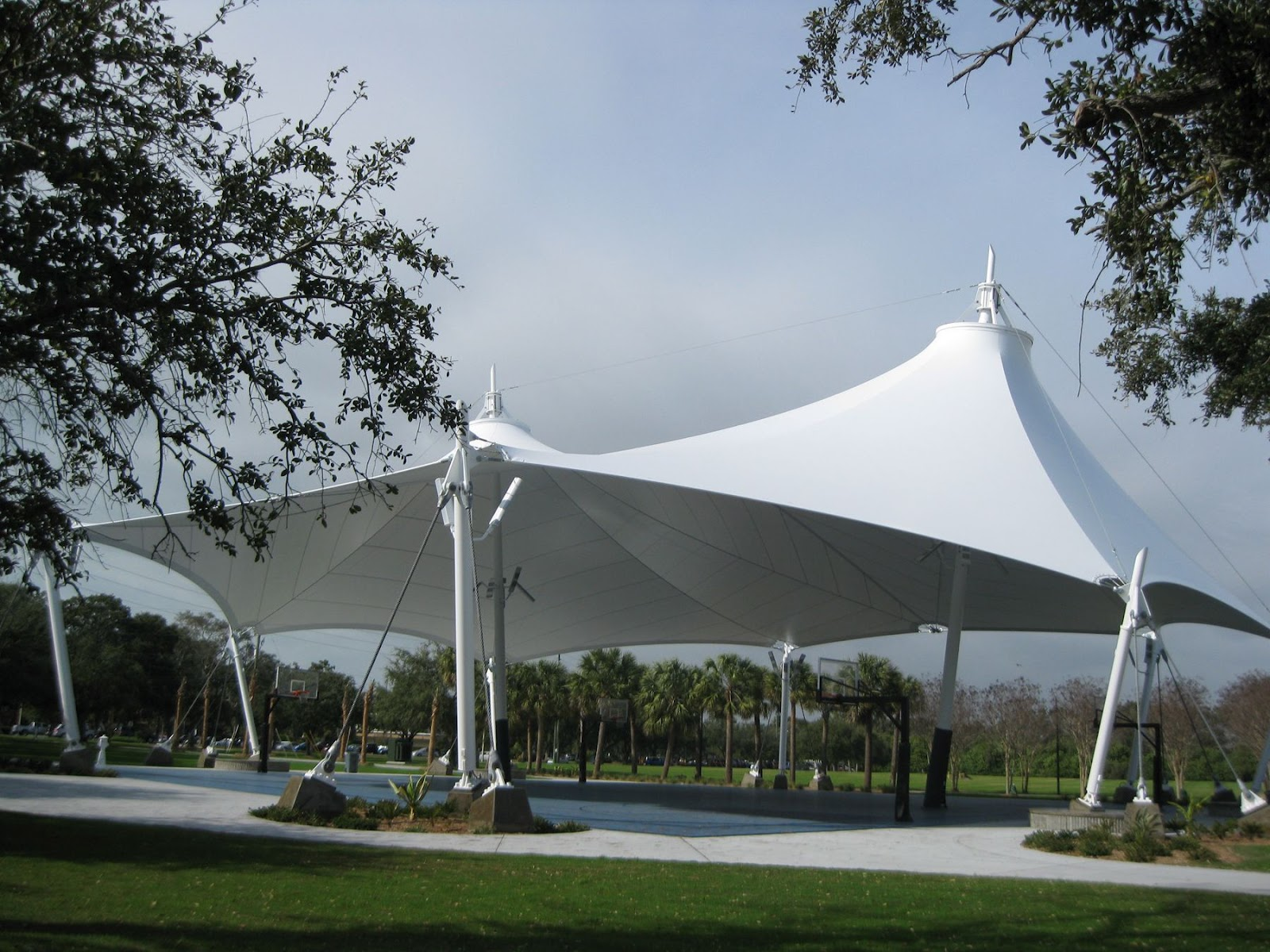 Fabric Shade Structures : Pvc hdpe shade structure