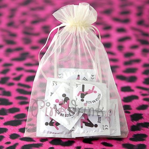 Zabawny prezent na wieczór panieński - zestaw prezerwatyw z pozycjami