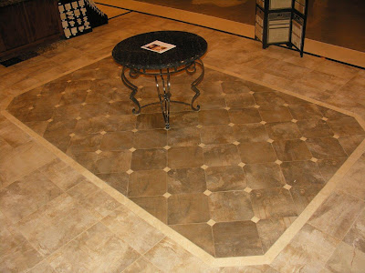 custom granite table with decorative flooring design