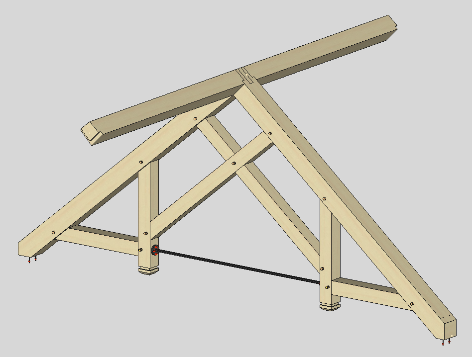 Timber frame engineer a sampling of timber trusses for Scissor truss design