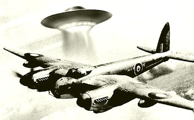 UFO attacking a plane in WW2