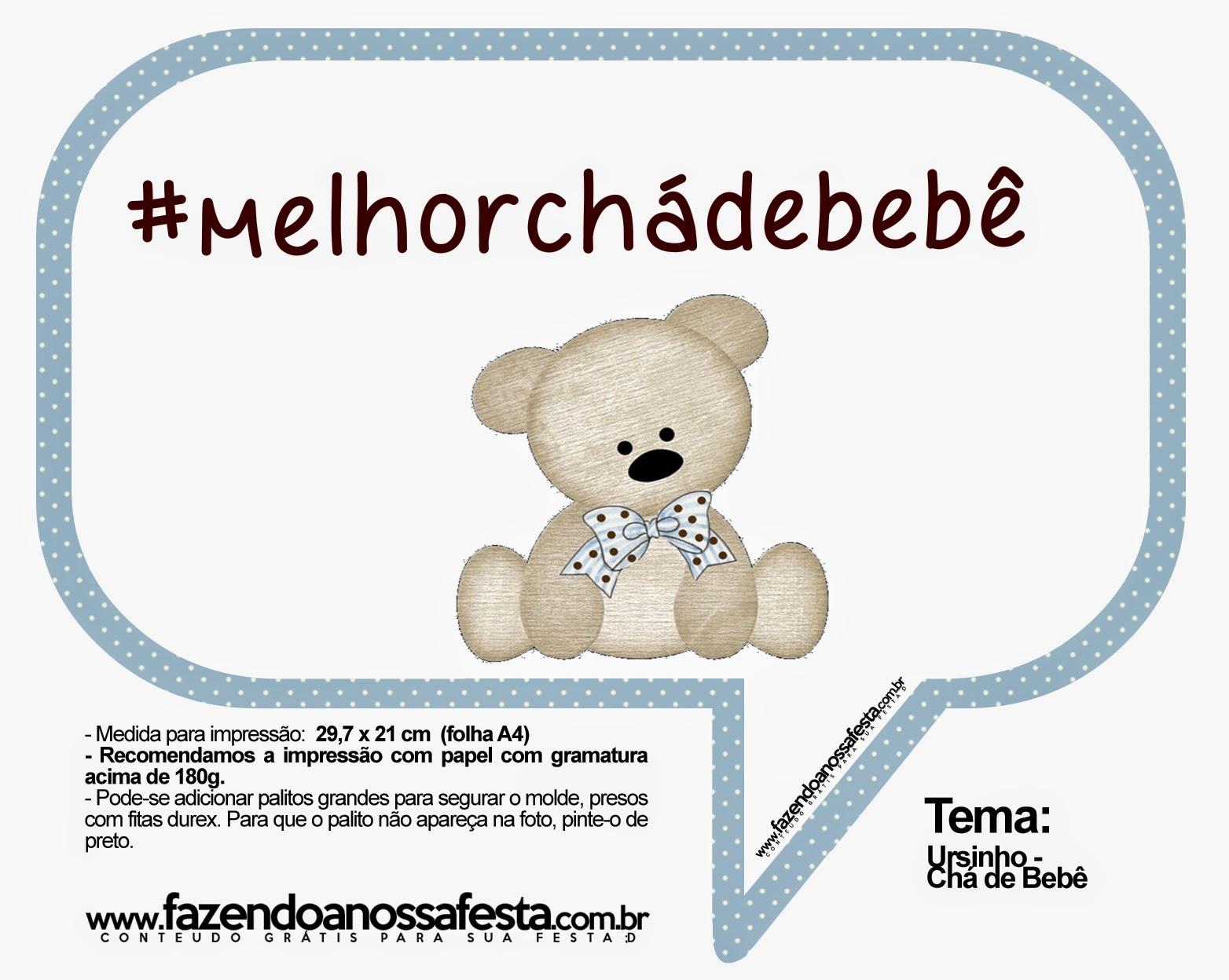 Top Plaquinhas para chá de bebê para imprimir - Dicas pra Mamãe EJ88