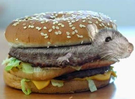 Hamburguesas McDonald's, carne de ratón