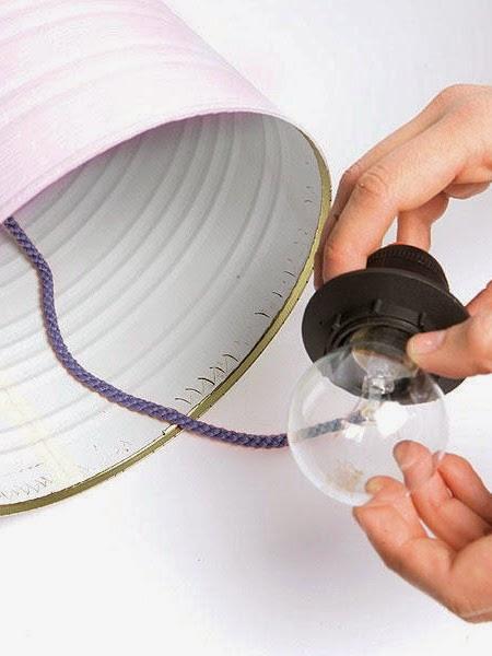 luminaria lata, luminaria reciclada, upcycling
