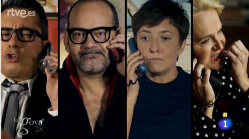 Los antiguos presentadores de los Goya en un gag del 2014 criticando a Manel Fuentes