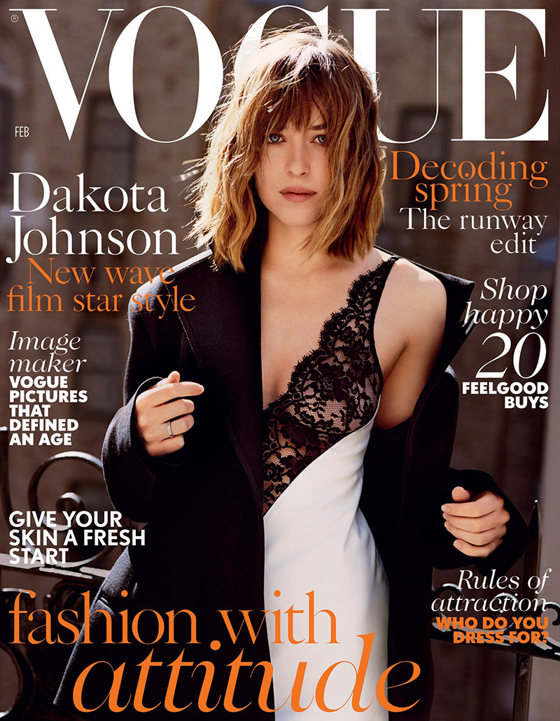 Dakota Johnson goes slinky for Vogue UK February 2016