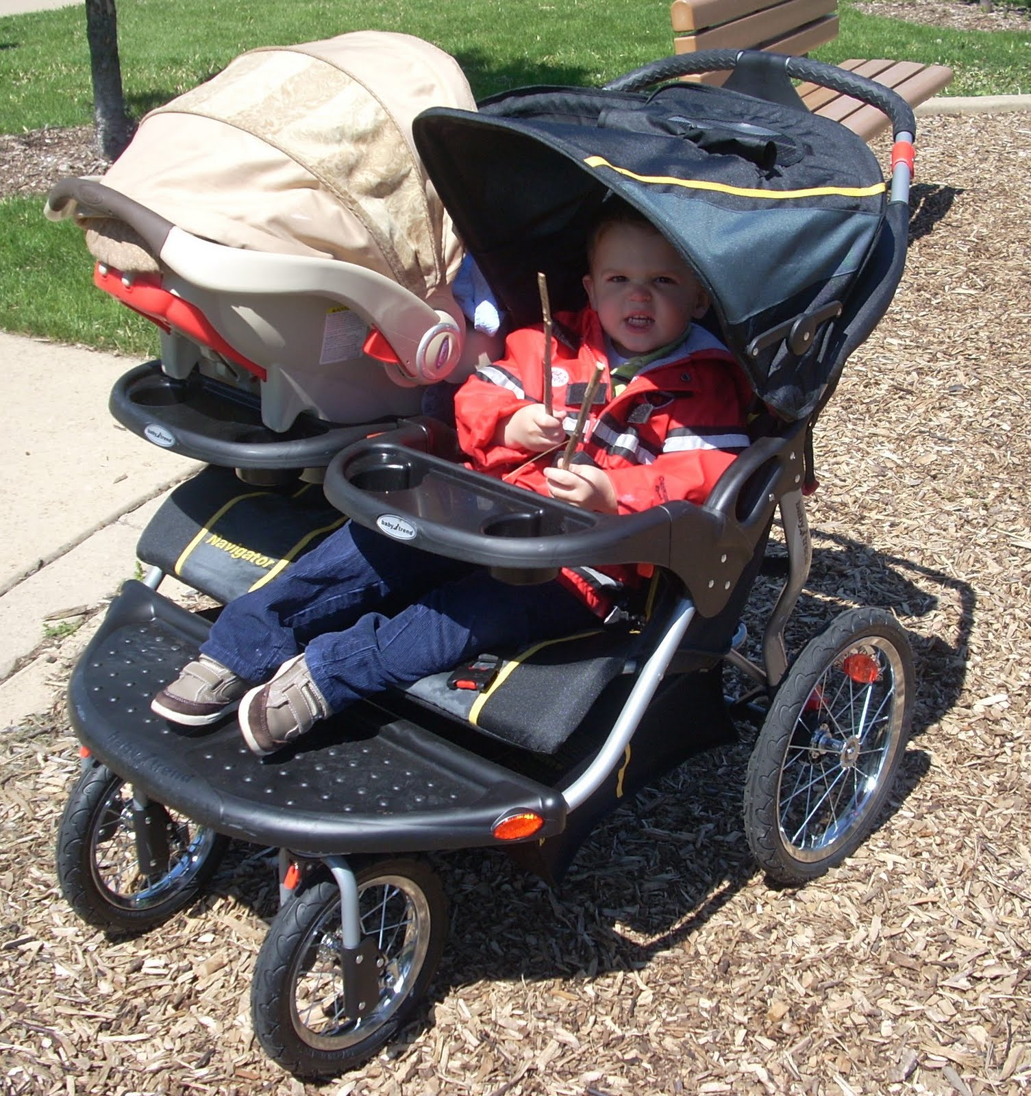 Product Review Baby Trend Navigator Double Jogger Stroller In Sonic