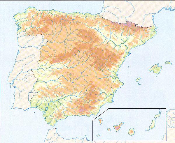 mapafsicoEspaamudojpg 600491  mapas  Pinterest  Mapa