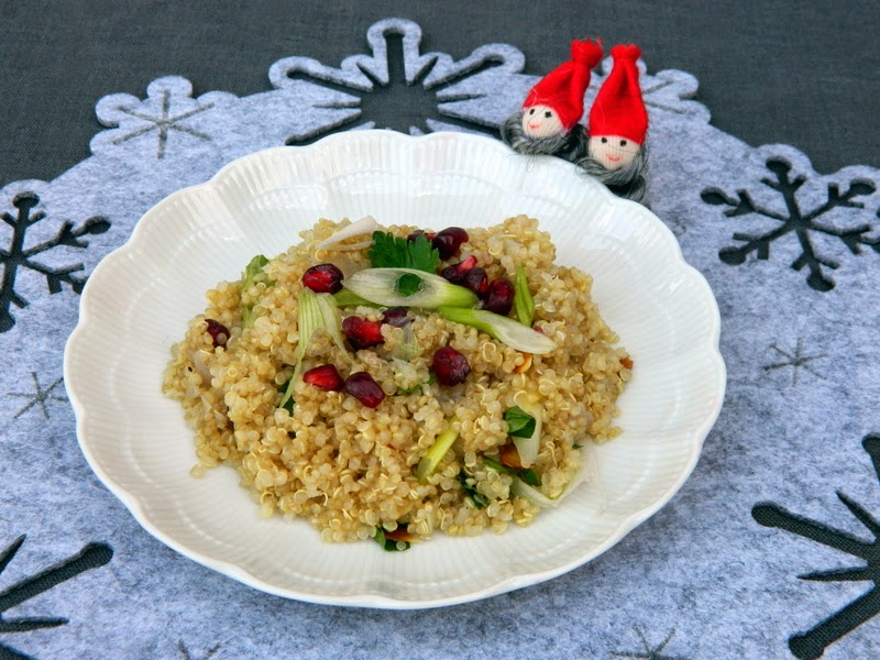 Quinoa salad with Pomegranate