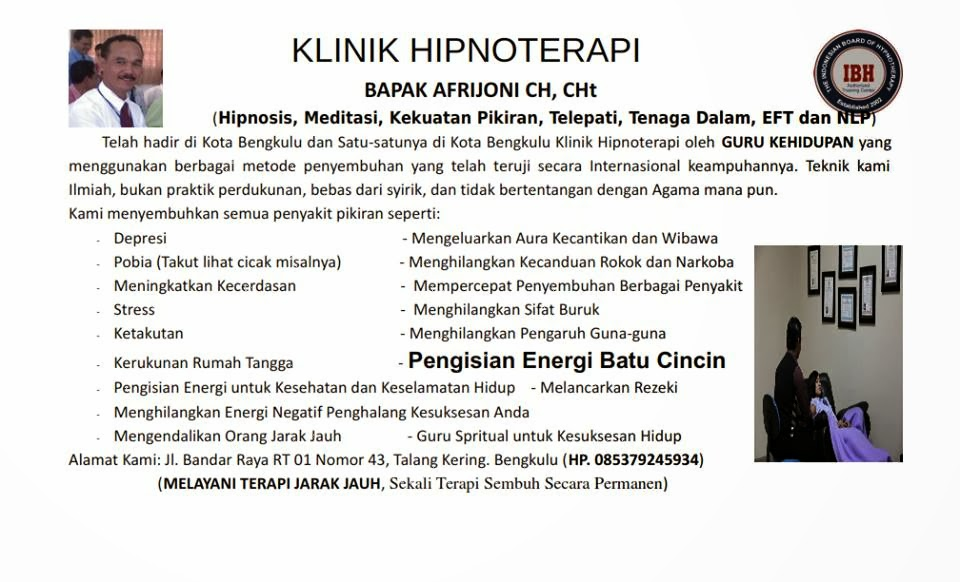 HIPNOTERAPI KOTA BENGKULU