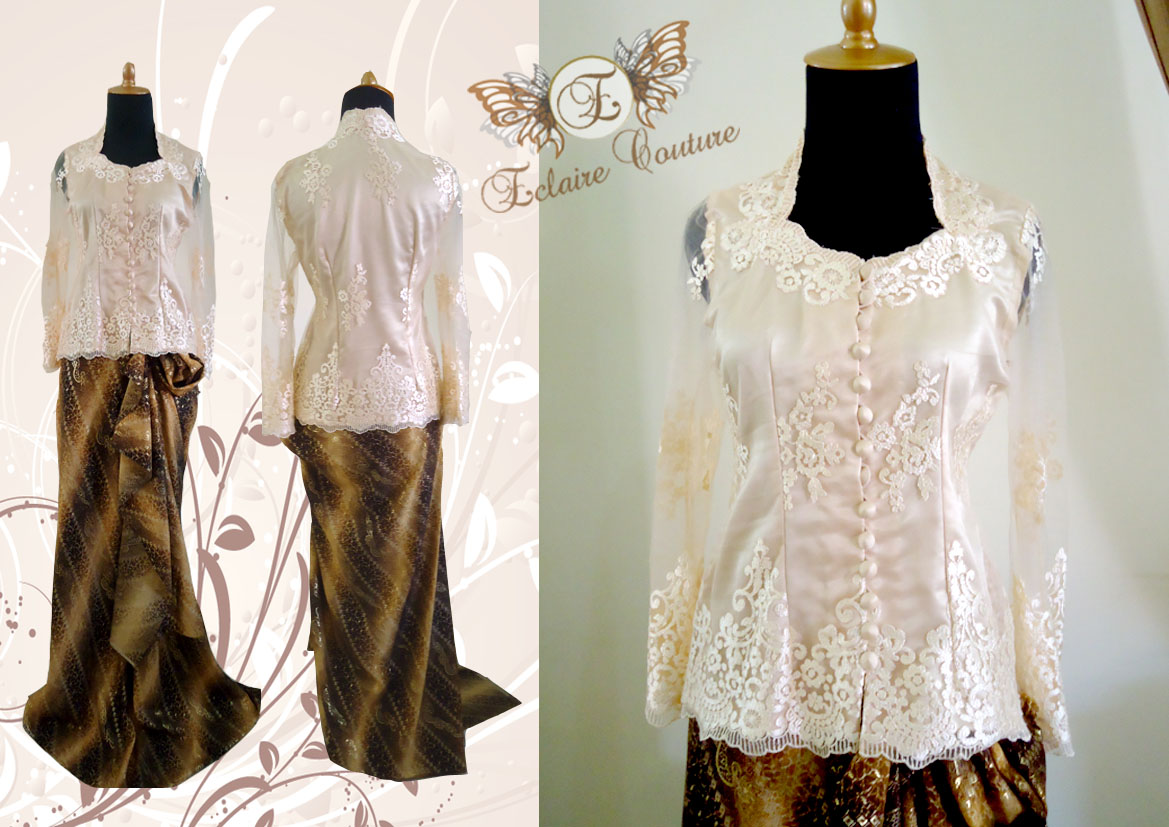 Baju kahwin muslimah www imgarcade com online image arcade - Eclaire Couture Kebaya Modern Mrs Indri Kebaya Dress
