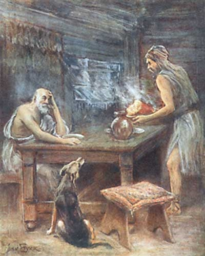 Amanda's English Blog: March 2011 Odysseus And Telemachus Meet