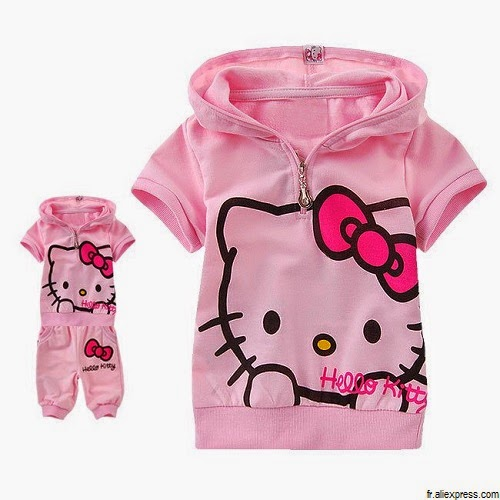 Vêtements mignons bébé fille hello kitty