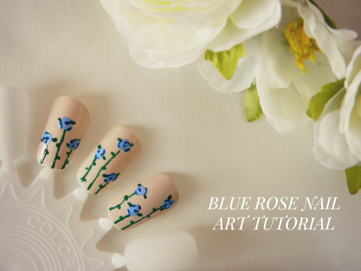Love From Lisa Blue Rose Nail Art Tutorial