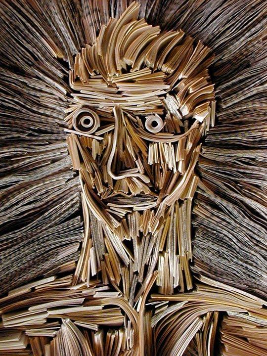 Nick Georgiou Turns The Printed Word Into Art. Old Books ...