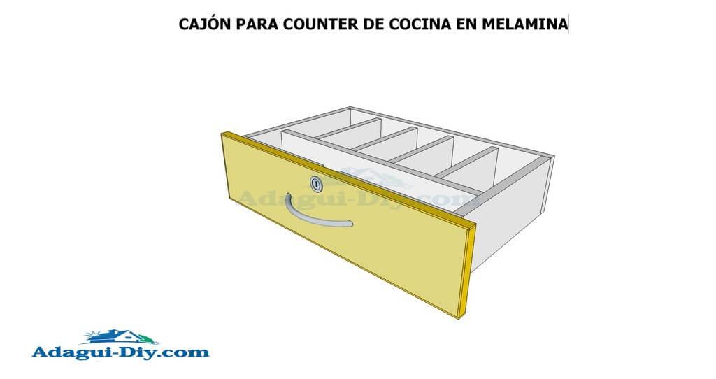 Como hacer muebles de cocina en melamina plano detallado for Planos muebles de cocina para armar