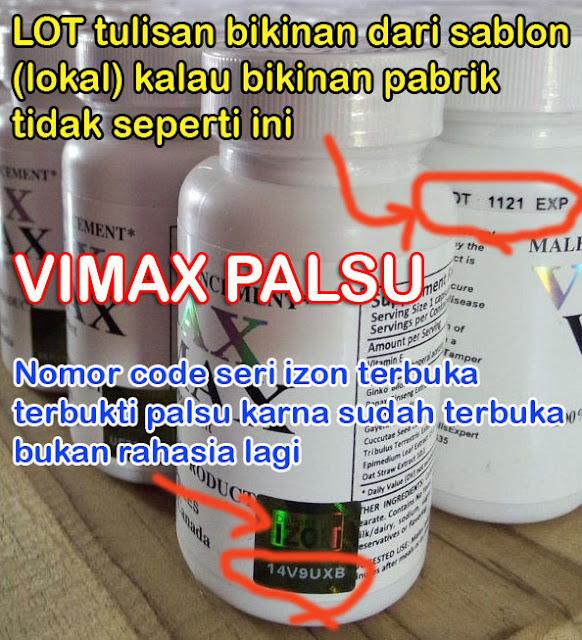 Vimax Palsu / Vimax Tiruan