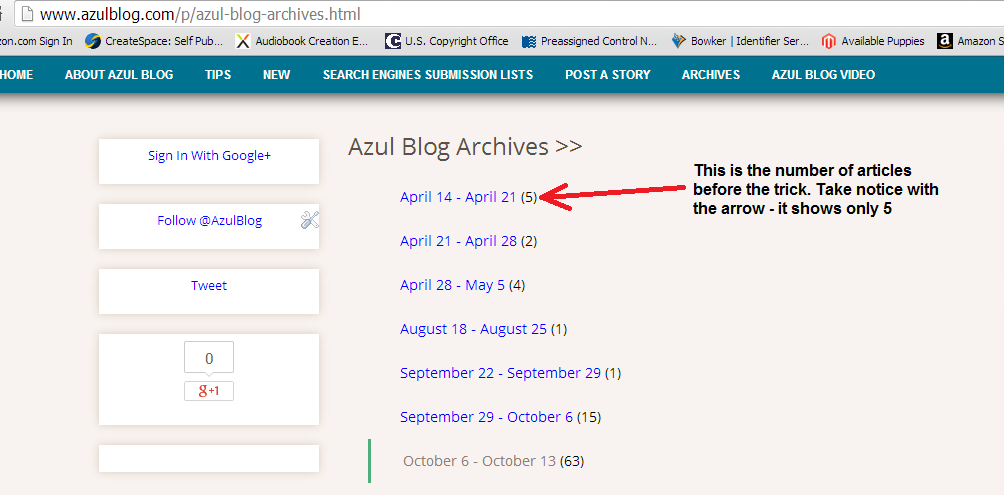 Remove Post Count On Blogger Archives