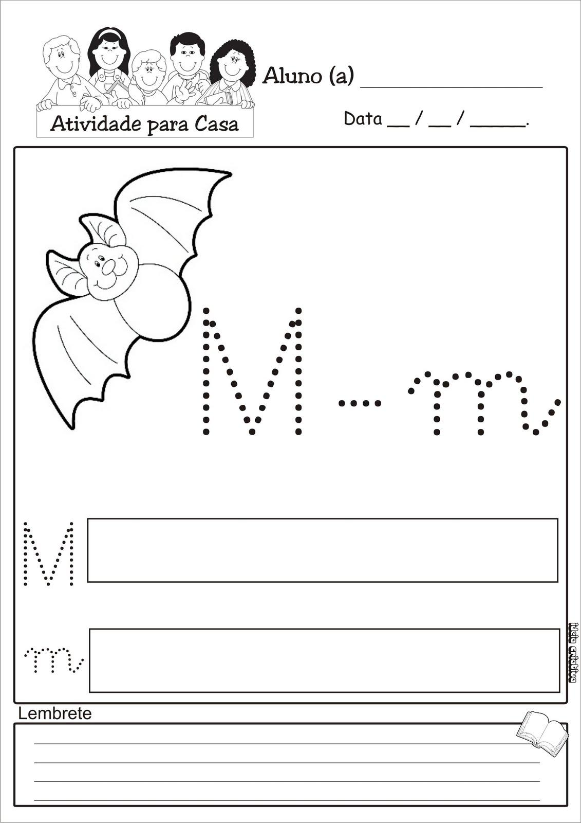 Well-known Atividade Letra M Pontilhada / Temática Animais Mamíferos | Ideia  MQ19